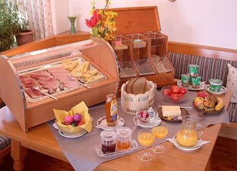 Delicious breakfast buffet