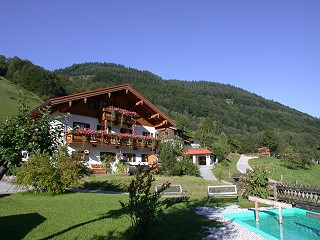 Our house with Kneipp pool in front
